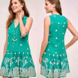 Maeve Anthropologie Pippa Swing Embroidered Dress